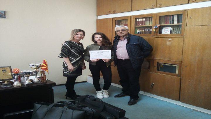 Емилија Христоска IX одделение го освои второто место на ЕЛТАМ