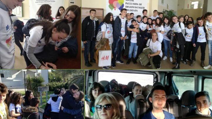 """ЕРАЗМУС + SIDS – СОЦИЈАЛНА ИНКЛУЗИЈА НА УЧЕНИЦИ ВО НЕПОВОЛНА ПОЛОЖБА  Мобилност во Италија-+- тема: """"Соученичко учење"""""""